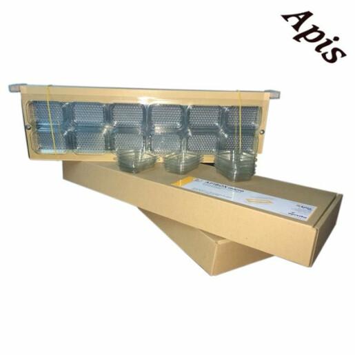 APIBOX micro - Rama de lemn cu 24 recipiente din plastic