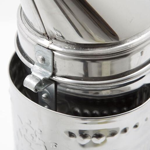 Afumator cromat, cu tub, 25 cm