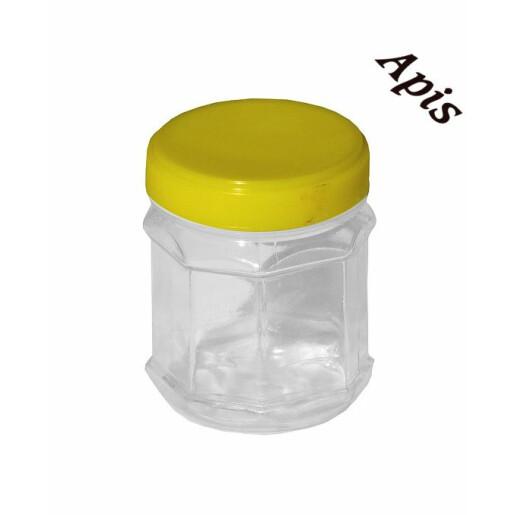 Borcan din plastic,hexagonal, 250g