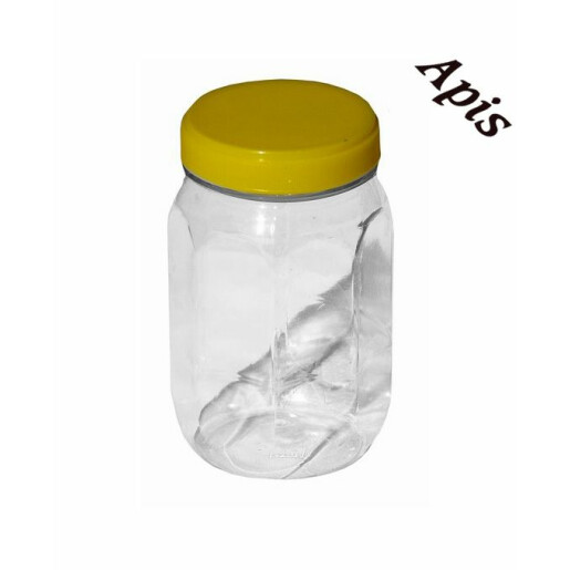 Borcan din plastic,hexagonal, 500g