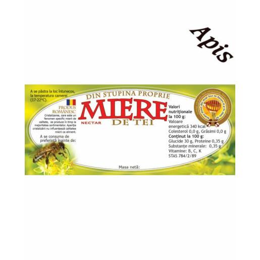 Eticheta miere de tei