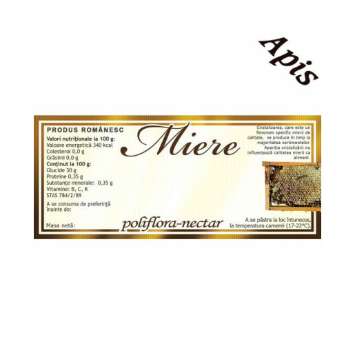 Eticheta miere Poliflora Nectar