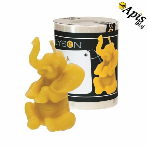 """Forma de lumanare """"elefant mic"""" din silicon - Lyson"""
