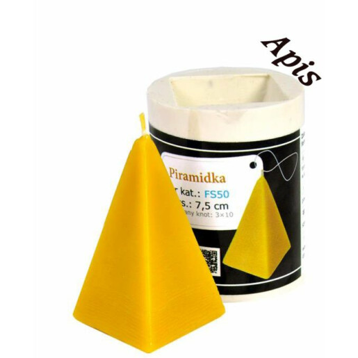"""Forma de lumanare """"piramida"""", din silicon - Lyson"""