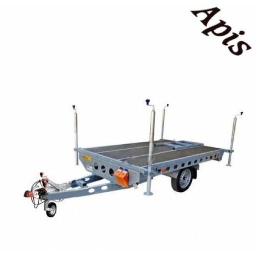 Platforma pentru stupi 750kg, 1 osie, 2600x1620mm, cu sistem de franare WIOLA