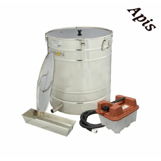 Topitor de ceara cu generator de aburi din INOX 100L Ø500