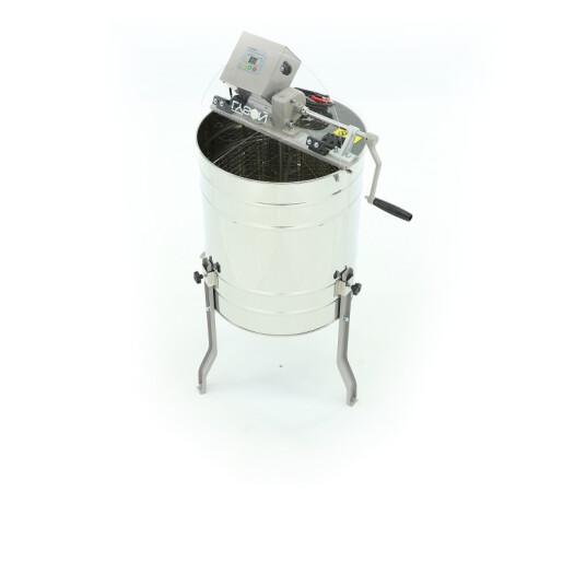 """Centrifugă tangenţială """"OPTIMA"""" cu 3 rame, acţionare electrica (220V si 12V) si manuală, Ø 500 mm (pentru rame Langstroth) (Lyson)"""