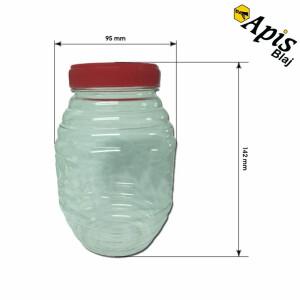 Borcan din plastic, rotund, 1 kg
