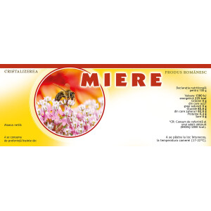 Eticheta miere simpla (154x60 mm)