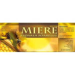 Eticheta miere Floarea soarelui (154x60 mm)