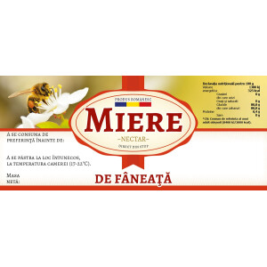 "Etichete miere de ""Faneata"" (116x50 mm)"