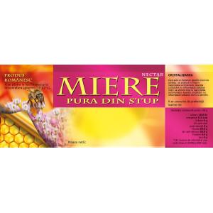 Eticheta miere Pura din stup (154x60 mm)
