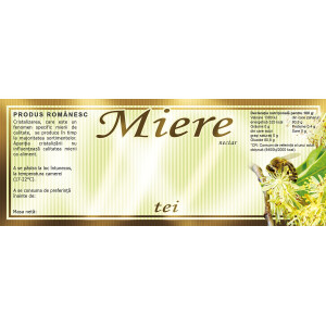 Eticheta miere Tei  (154x60 mm)