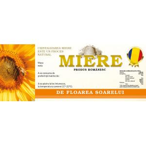 Eticheta miere de Florarea Soarelui (154x60 mm)