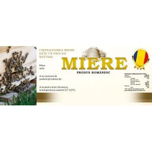 Eticheta miere -Produs romanesc (154x60 mm)