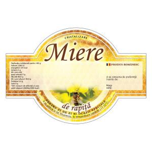 """Etichete miere de :Rapita"""" cu aripioare (125x86 mm)"""