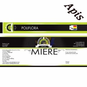 """Eticheta + Sigiliu 150x55 mm """"Poliflora"""""""