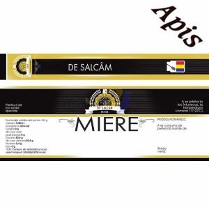 "Eticheta + Sigiliu 150x55 mm ""Salcam"""
