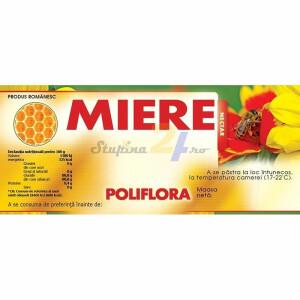 """Eticheta miere """"Poliflora"""""""