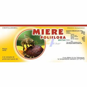 "Eticheta miere ""Poliflora-nectar"""