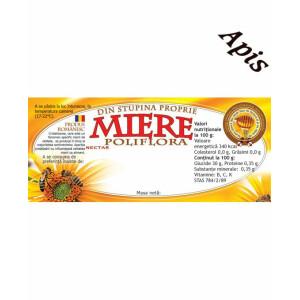 Etichete miere Poliflora din stupina proprie