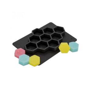 Matrita din silicon, pentru 9 sapunuri hexagonale