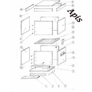Kit: Stup din lemn cu magazie de 3/4