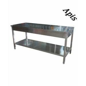 Masa inox cu raft, 70 x 1800mm