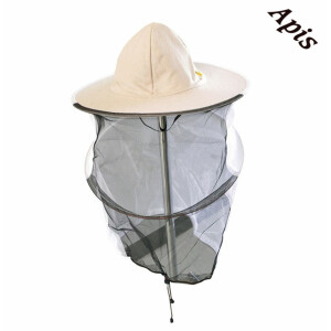 Palarie apicultor de in (plasa in spate)