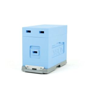 Stup de depozitare/transport, 6 rame, albastru