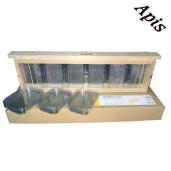APIBOX mini - Rama de lemn cu 12 recipiente din plastic