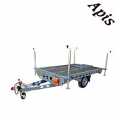 Platforma pentru stupi 750 kg, 1 osie  2200x 1620 mm, fara sistem de franare WIOLA
