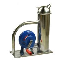 Afumator inox, manual, cu turbina si manivela