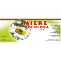 Eticheta miere Poliflora (154x60 mm)