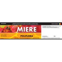 """Etichete miere :Poliflora"""" (200x55 mm)"""