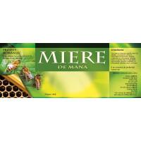Eticheta miere de Mana (154x60 mm)