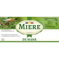 """Eticheta miere de """"Mana"""" (116x50 mm)"""