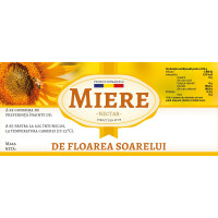 "Etichete miere ""Floarea soarelui""  (116x50 mm)"