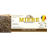 Eticheta miere Pura din stup nou (154x60 mm)