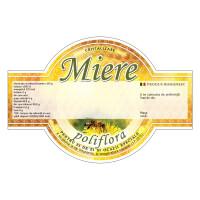 "Etichete miere ""Poliflora"" cu aripioare (125x86 mm)"