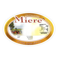 Etichete miere ovale Pura din stup (92x60 mm)