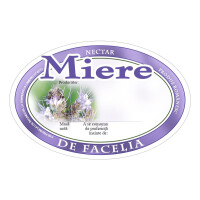 Eticheta miere ovala Facelia (92x60 mm)