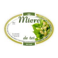 Eticheta miere ovala de Tei (92x60 mm)