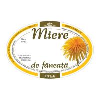 Eticheta miere ovala de Faneata (92x60 mm)