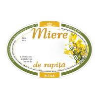 Eticheta miere ovala de Rapita (92x60 mm)