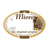 "Etichete miere ovale ""Din stupina proprie"" (92x60 mm)"
