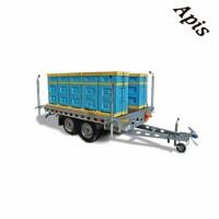 Platforma pentru stupi, cu 2 osii, 750 kg, fara sistem de franare WIOLA