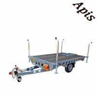 Platforma pentru stupi 750kg, 1 osie, 2600x1620mm, , fara sistem de franare WIOLA